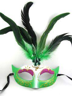 Shiny Painting Feather Mask