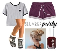 """""""Slumber Party"""" by gagirl42 ❤ liked on Polyvore featuring Chicnova Fashion, Pilot, Essie and slumberparty"""