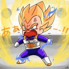 How Goku sees Vegeta when he's mad Dragon Ball Gt, Vegito Y Gogeta, Manga Dragon, Vegeta And Bulma, Chibi Characters, Fan Art, Les Aliens, Anime Chibi, Character Design