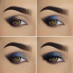 Make-up; Augen Make-up; Make-up Tutorial; Make-up Aussehen; Augen Make-up Tuto Eye Makeup Steps, Eye Makeup Art, Natural Eye Makeup, Contour Makeup, Smokey Eye Makeup, Smokey Eyes Tutorial, Eye Tutorial, Eyeshadow Looks, Eyeshadow Makeup