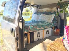 See more pictures of this traveling Australian surfer's van on Instagram; find a tutorial for building one at home using wood here, one using PVC pipe here, and one for a compact car here.