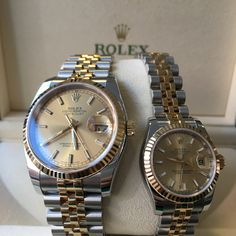 Celebrate the perfect his & hers with Rolex & Champagne #DailyDuo