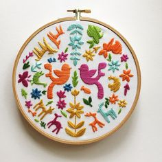 Rikrack.com Animal Fair Embroidery Kit
