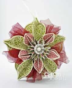 Great video tutorial on making the ornament found on the cover of the 2012 Stampin' Up Holiday mini catalog.