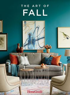 Create a warm and welcoming space this Fall with vibrant jewel tones, rich textures, and inventive contrasts. Check out our living room inspiration board for ideas on bringing the beauty of Autumn indoors.