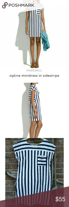 Madewell Zipline Minidress Used but good condition. Only defect is slight yellow discoloration on photo 4. Madewell Dresses
