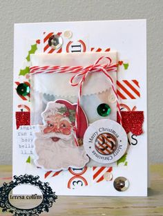 TERESA COLLINS DESIGN TEAM: Santa's List Cards by @Tessa Wise