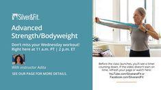 Wednesday 10.21.20 Advanced Strength & Bodyweight Senior Exercises Wednesday Workout, Senior Fitness, Body Weight, Exercises, Strength, Health Fitness, Challenges, Feelings, Youtube