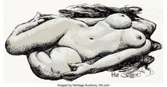 "Original Comic Art:Illustrations, Richard Corben ""Reclining Nude"" Female Illustration Original Art(c. Illustration Art, Art Illustrations, Recliner, Comic Art, Original Art, Auction, Nude, Female, The Originals"