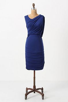 Ruched & Draped Column Dress - Anthropologie.com
