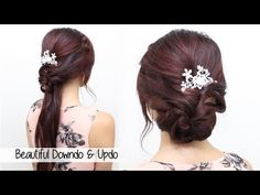 Here's an cute and easy hair tutorial on 2 beautiful hairstyles for medium shoulder-length or long hair. This tutorial is also great for straight, wavy, curl...