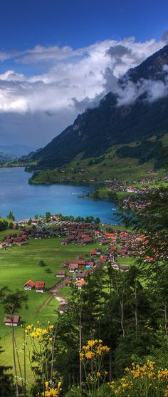 Lake Lungern ~ located in the canton of Obwalden in Switzerland. Amazing, serene beauty. Would love to be here