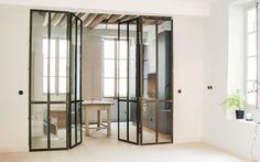 Verrière en métal à double portes