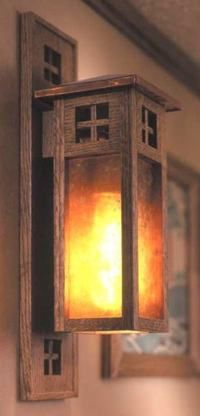 31-MD-00146 - Arts and Crafts Wall Sconces Woodworking Plan. For outside