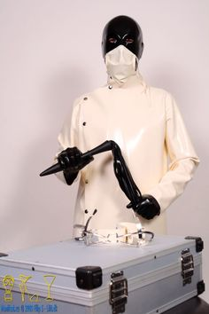 Mens Heavy Latex Lab Coat by EssentialLatex on Etsy
