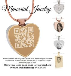 www.tributecode.com Innovative memorial products engraved with QR code that scan to memorial page of departed loved one.