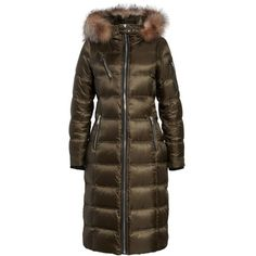 Women's Andrew Marc Charlize 42 Hooded Water Resistant Down Coat With... (15.070 CZK) ❤ liked on Polyvore featuring outerwear, coats, forest, brown down coat, brown coat, andrew marc coats, andrew marc and hooded down coat