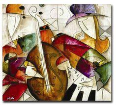Quadri dipinti a mano su tela, moderni e particolari creati per ...