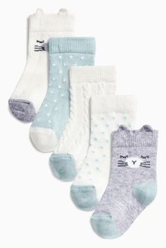 Buy Grey Cat Character Socks Five Pack (Younger Girls) online today at Next: United States of America