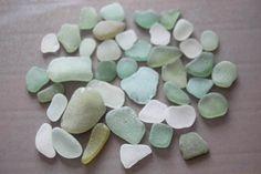 verre de mer plage vrac 40 vert blanc gros decor ornements fournitures naturel mosaique decoration accessoires arts loisirs créatifs lot