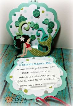 DIY Mermaid Invite made with the Silhouette CAMEO Πάρτι Γενεθλίων 12109325249