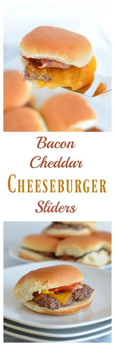 Bacon Cheddar Cheeseburger Sliders are the perfect game day snack. Baked in the oven there is no need to turn on your grill. Pepperidge farm sliders make game day easy. #sponsored #easyrecipes #gamedayrecipes #respectthebun #snacks #sliders #burgers via @nourishedsimply