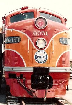 Southern Pacific E9 #6051 At The San Diego Railfair, May, 1988