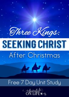 This is a fantastic 7 day lesson to help your kids focus on Christ AFTER Christmas! Completely FREE too. @ IntoxicatedOnLife.com Sunday School Lessons, Sunday School Crafts, Lessons For Kids, Bible Lessons, Youth Lessons, Object Lessons, 3 Reyes, Kings Day, After Christmas