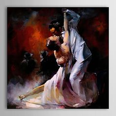 Oil+Painting+People+Dancer+1303-PE0217+Hand-Painted+Canvas+–+USD+$+89.99