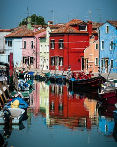 Burano Canal . Italy. This is a lovely little town.