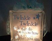 Decorative Glass Block Night Light for Baby's Room