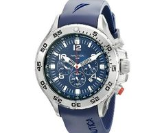Nautica Men's NST Stainless Steel Watch with Blue Resin Band ►► http://www.gemstoneslist.com/mens-watches/nautica-mens-watches.html?i=p