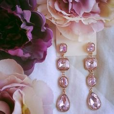 {forever 21} pink rhinestone statement earrings Brand new beautiful pink rhinestine statement gold tone stud earrings. Large and eye catching- sure to draw attention! Forever 21 Jewelry Earrings