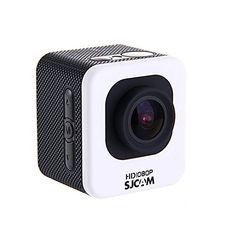 "MeGooDo SJCAM M10 WIFI Version Novatek 12MP 1080P Cube Mini Sports Action Camera - 1.5"" LCD 170 Degree Wide Lens Waterproof Diving HD Camcorder AV White"