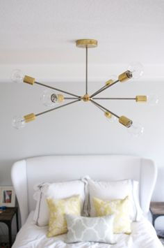 Mid Century Brass Sputnik Light by ModernBrass on Etsy