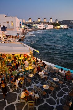 Little Venice, Mykonos, Greece - best spot for sunset views of the windmills