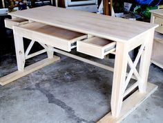 how to build a diy writers desk tutorial and free plans by jen woodhouse build rustic office desk