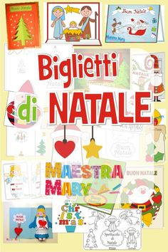 Tantissimi biglietti di Natale da stampare, ritagliare, assemblare, colorare... #maestramary #bigliettidinatale #lavorettidinatale #natale #nataleidee # Winter Christmas, Arts And Crafts, Cards, Bricolage, Maps, Art And Craft, Playing Cards, Art Crafts, Crafting