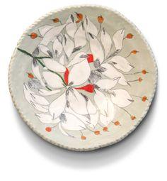 ceramic plate with flower design