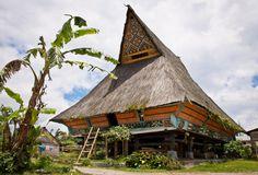 Traditional house of Batak-Karo ethnic group in Lingga Village, Karo, North Sumatra, Indonesia by neslab