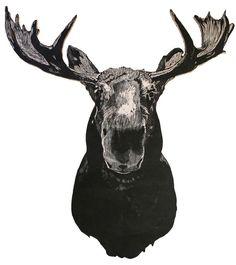 Deer Art, Moose Art, Alaska Tattoo, Moose Tattoo, Moose Pictures, Moose Decor, Moose Head, Arm Art, Head Tattoos