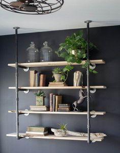 Superb Magnolia Homes, DIY Pipe, Wood Shelving