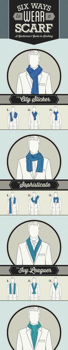 Seis maneiras de usar um lenço ... - A Meta Imagem