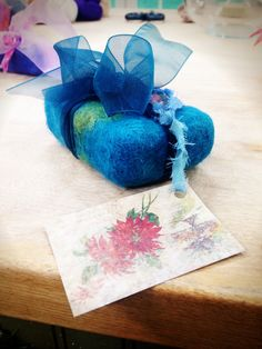 Felted Wool Soap Wrap in #Wool Roving by @Sophie LB Uliano #HallmarkChannel