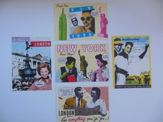 Vintage 1950s Postcards Travel Lifestyle London by loonlakevintage