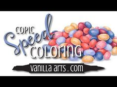"Speed Color- Copic & Prismacolor ""Jellybeans"" by http://VanillaArts.com - YouTube"
