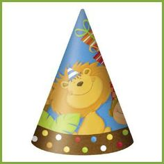 Jungle Animal Party Hats, $1.89 Cdn pkg/8.