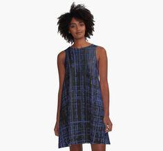 Line Art Dark Blue Matrix by cool-shirts