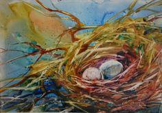 Watercolor Nest