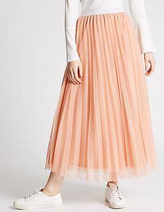 A-Line Mesh Skirt
